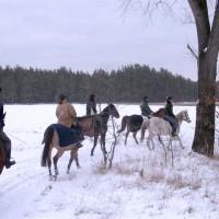 Wanderreiten im Winter